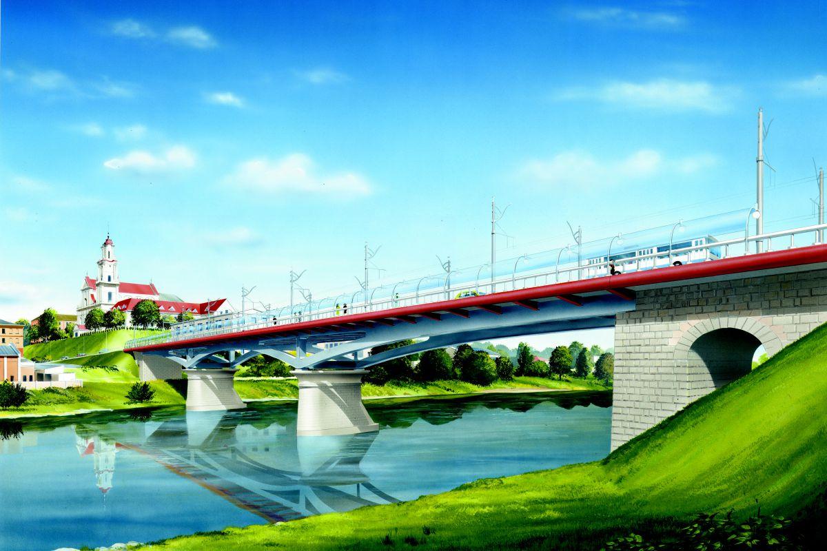 Koncepcja odbudowy zabytkowego Starego Mostu przez Niemen w Grodnie, opracowanie projektu 2008 r.
